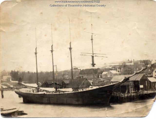 Barkentine Cecil P. Stewart, Thomaston, ca. 1919