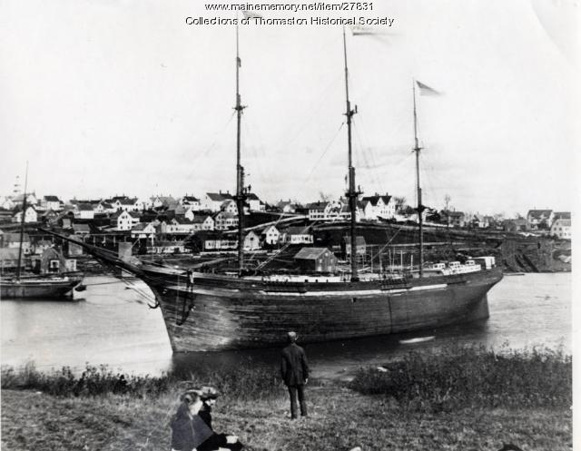 Ship Frank F. Curling, Thomaston, 1878
