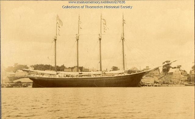 Schooner Joseph G. Ray, Thomaston, 1901
