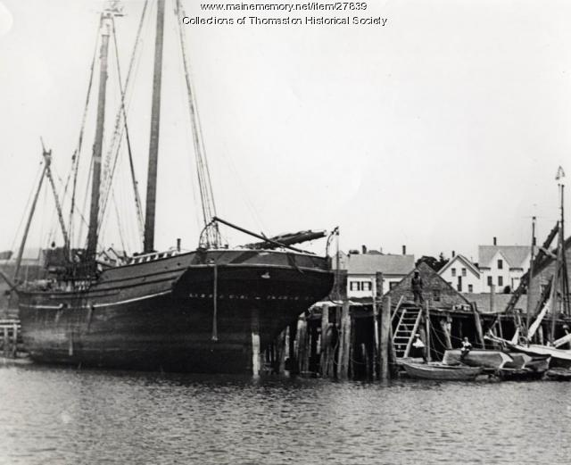 Schooner Lizzie Carr, Thomaston, ca. 1875