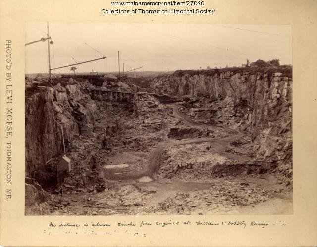Lime Quarry, Thomaston, ca. 1870