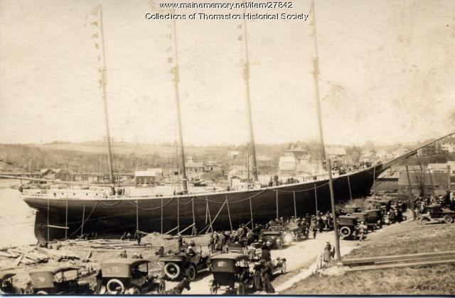 Schooner Margaret Throop, Thomaston, 1918