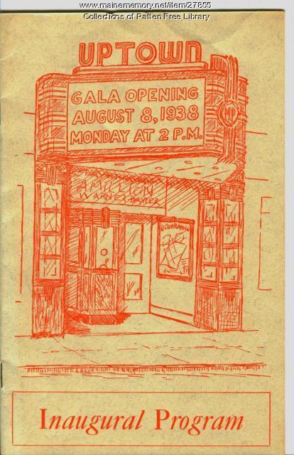 1938 Inaugural Program, Uptown Theatre, Bath