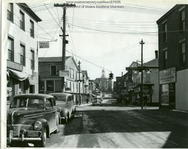 Centre and Washington Streets, Bath, 1941