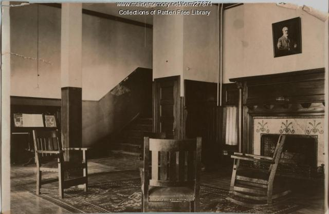 Reception Lobby of Y.M.C.A., Columbian Block, Bath, 1916