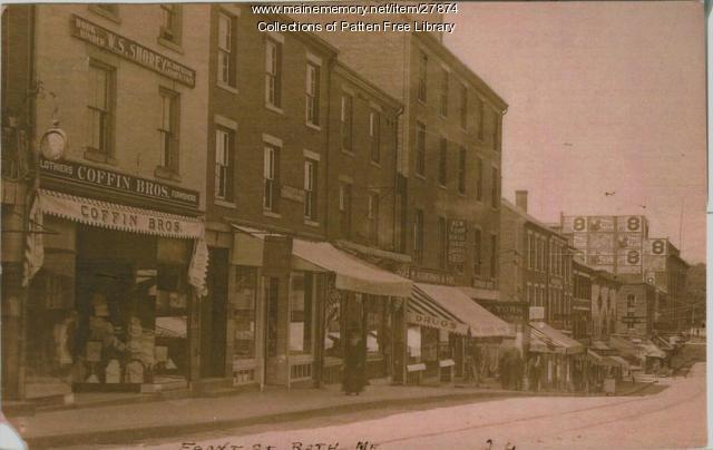 West side of Front Street, Bath, ca. 1910