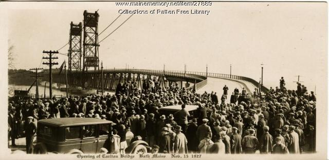 Opening of Carlton Bridge, Bath, Nov. 15, 1927