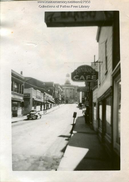 Downtown Centre Street, Bath, 1948