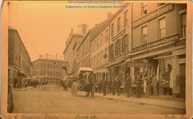 Merchants\' Row, Bath, ca. 1883 - Maine Memory Network
