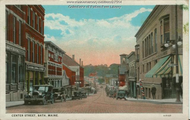 Center Street, Bath, ca. 1925