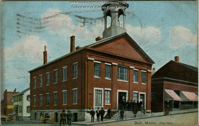 Bath Town Hall, ca. 1908
