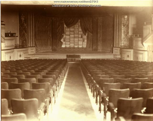 Bath Opera House stage, 1926