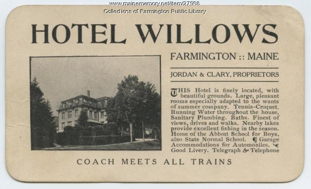 Hotel Willows, Farmington, ca. 1910