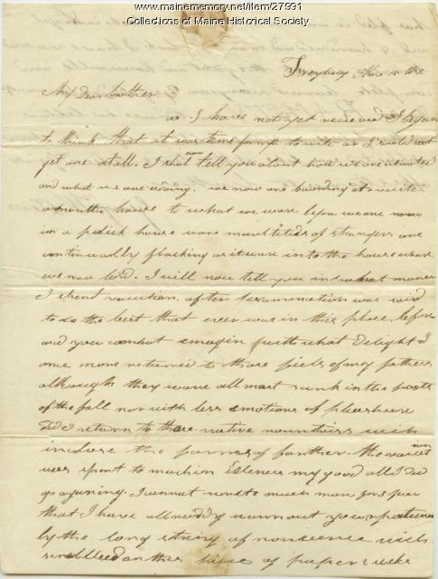 George W. Pierce from Fryeburg, 1818