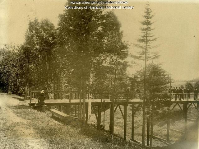 Riverside Park river entrance, Hampden, ca. 1905