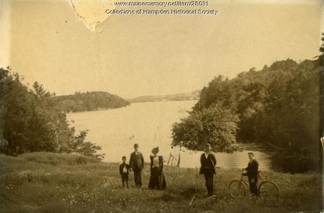 Penobscot River from Riverside Park, Hampden, ca. 1900