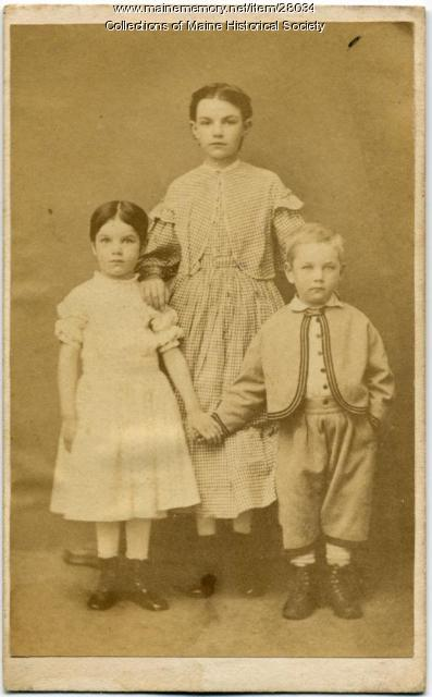Waterman children, Gorham, 1867