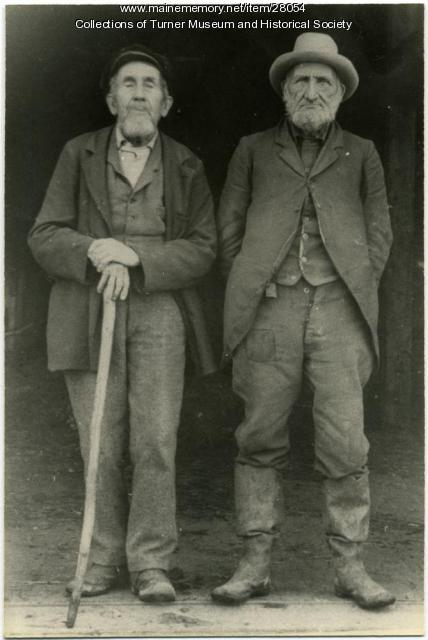 Otho and Solon Chase, Turner, ca. 1900
