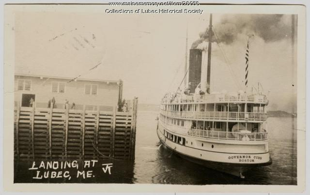 Steamship arrival in Lubec, ca. 1915