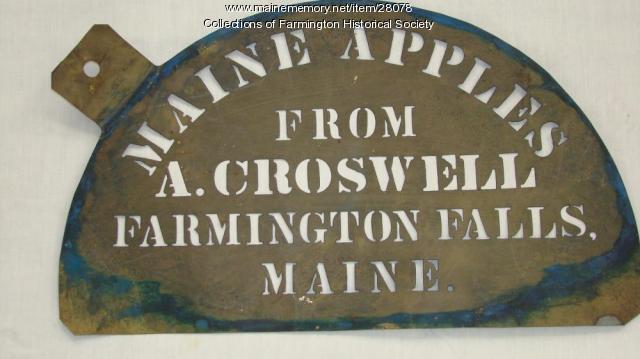 Croswell Stencil (half circle), Farmington,  circa 1895