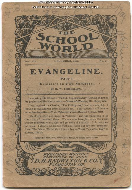 The School World published by D. H. Knowlton & Co. in Farmington, 1902