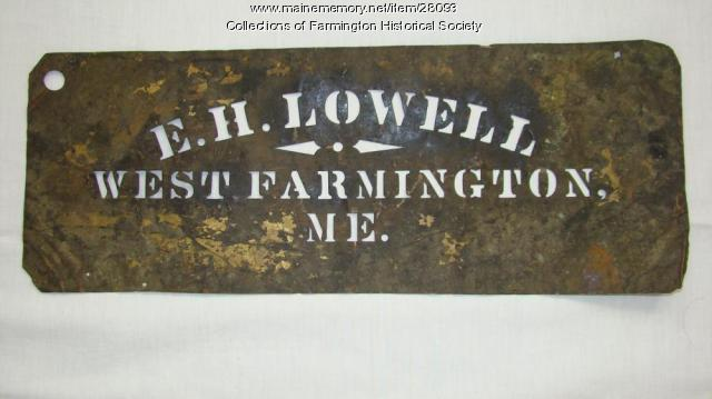 Lowell Stencil, Farmington, ca. 1880