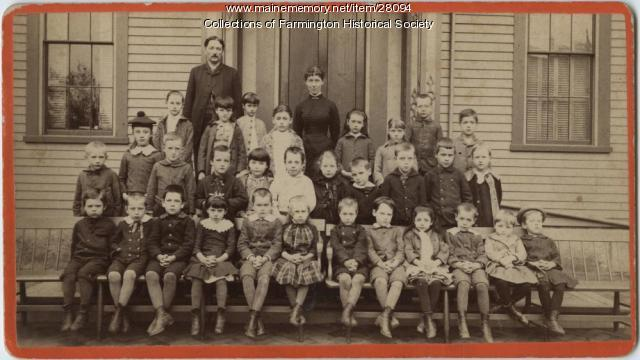 Students and Teachers at Farmington Model School, 1884