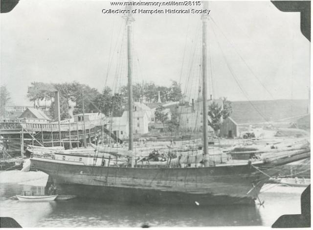 The schooner Victory, Hampden, ca. 1898
