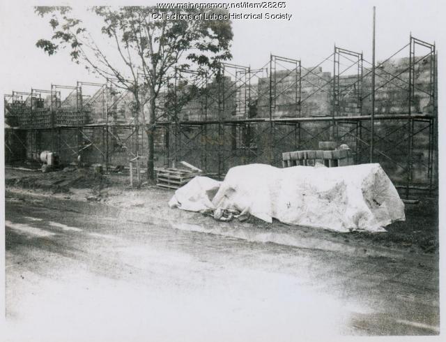 High School under construction, Lubec, July 2, 1976