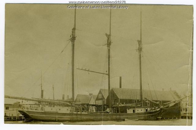 Schooner Fred B. Balano, Lubec, ca. 1905