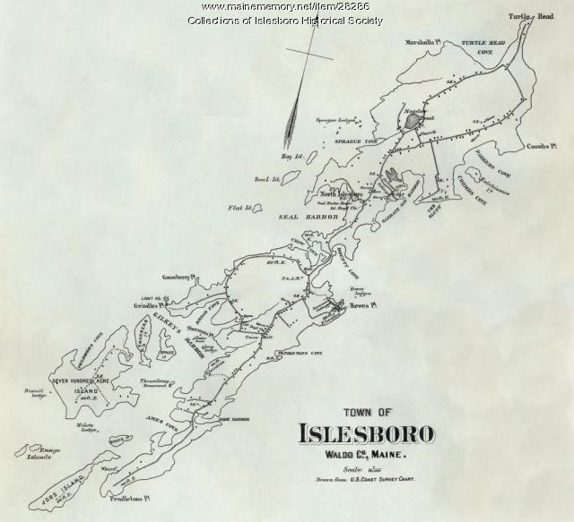 Survey Chart Islesboro 1884 Maine Memory Network