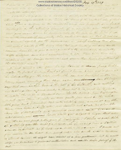 G.W. Pierce letter from steamer on Ohio River, 1829