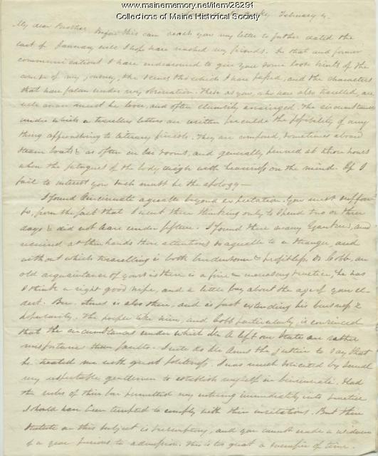 G.W. Pierce letter from Louisville, 1829