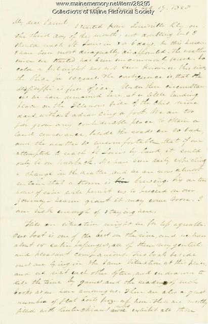 G.W. Pierce letter from Illinois, 1829