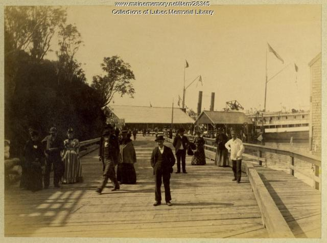 International Steamship Landing, Lubec, 1893