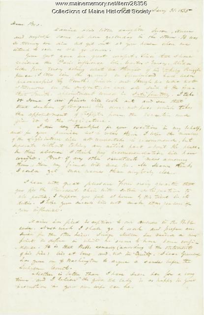 George W. Pierce letter to brother, Baldwin, 1835