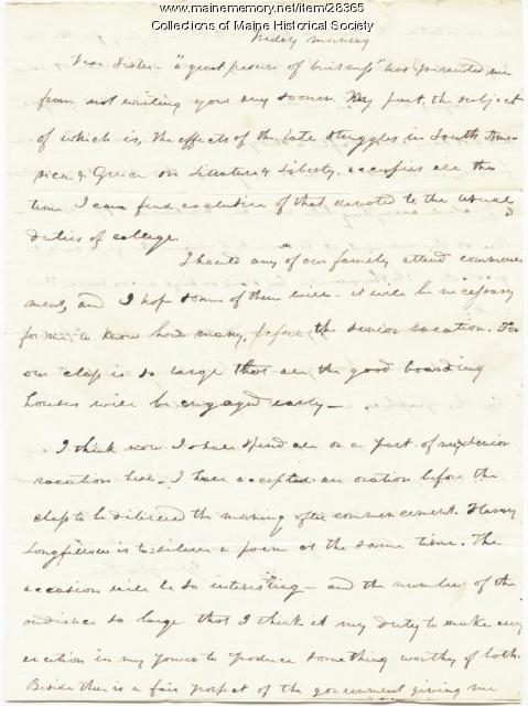 G.W. Pierce to sister, Brunswick, 1825