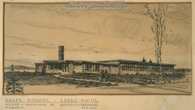 Elementary School drawing, Lubec, ca. 1948