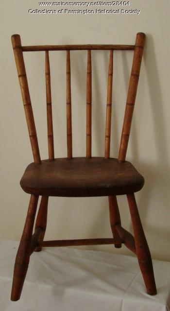 Dan Stewart's chair, Farmington, ca. 1825