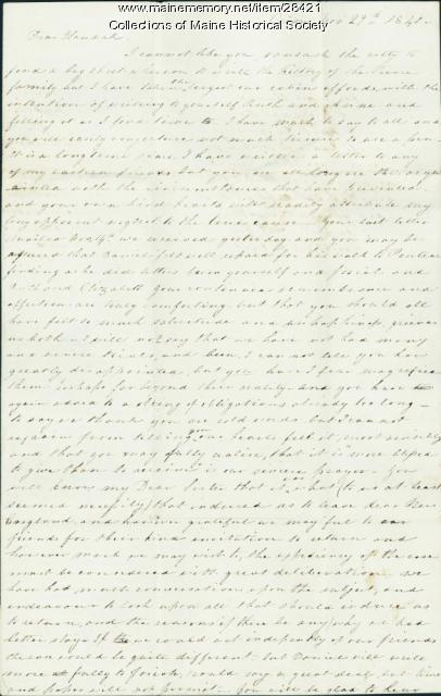 Francis Pierce to Hannah Pierce, 1840