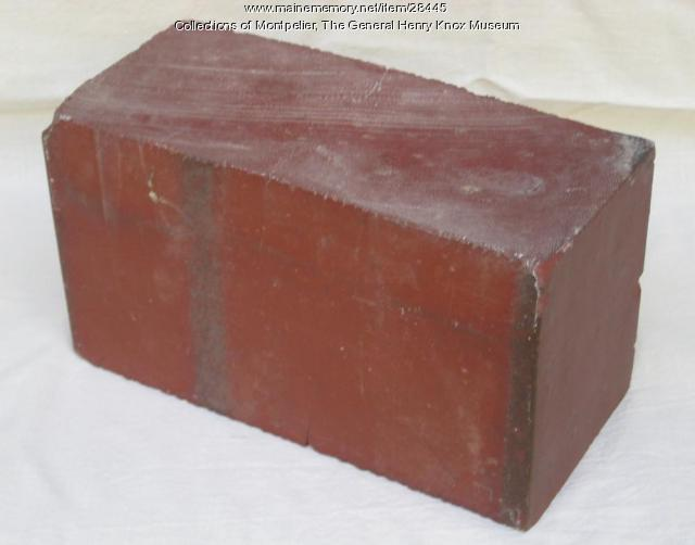 Brick from Montpelier, Thomaston, 1794