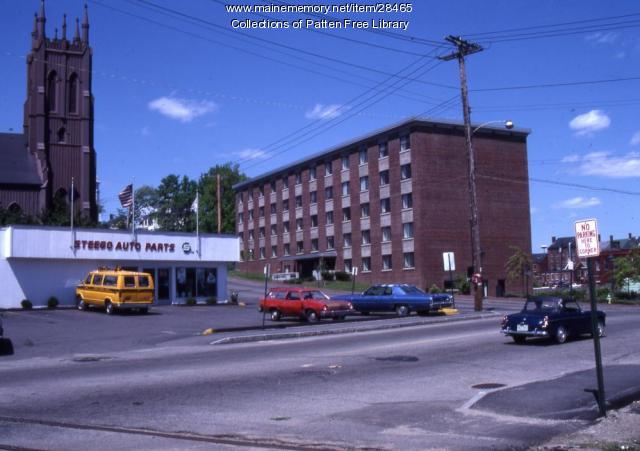 Intersection Centre and Washington Sts. Bath, ca. 1980