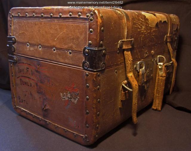 Masonic Trunk, Dunlap Commandery, Bath, ca. 1890