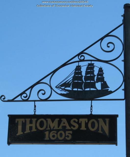Sign with Ship, Thomaston, Maine 2009