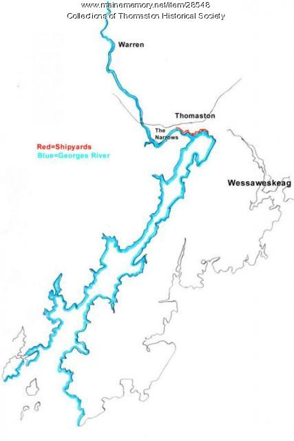 Map of the Georges River, Thomaston, Maine 2009