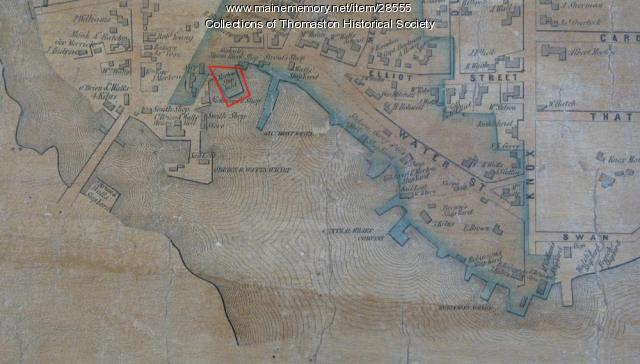 Map of Waterfront, Thomaston, Maine 1855