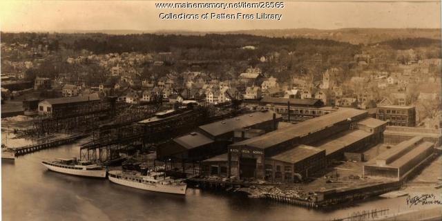 Bath Iron Works and yachts, Bath, 1931