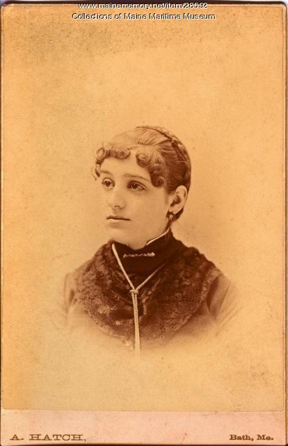 Katie D. Davenport, Bath, ca. 1882