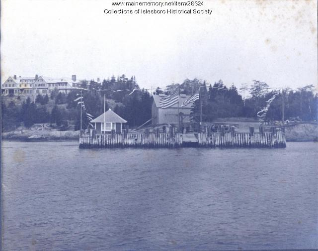 Dark Harbor Wharf, Islesboro, 1917