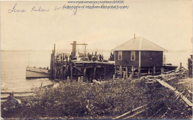 Lime Kiln Wharf, Islesboro, ca. 1900